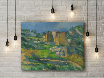 Paul Cezanne: Houses in Provence The Riaux Valley near L'Estaque. Fine Art Canvas.